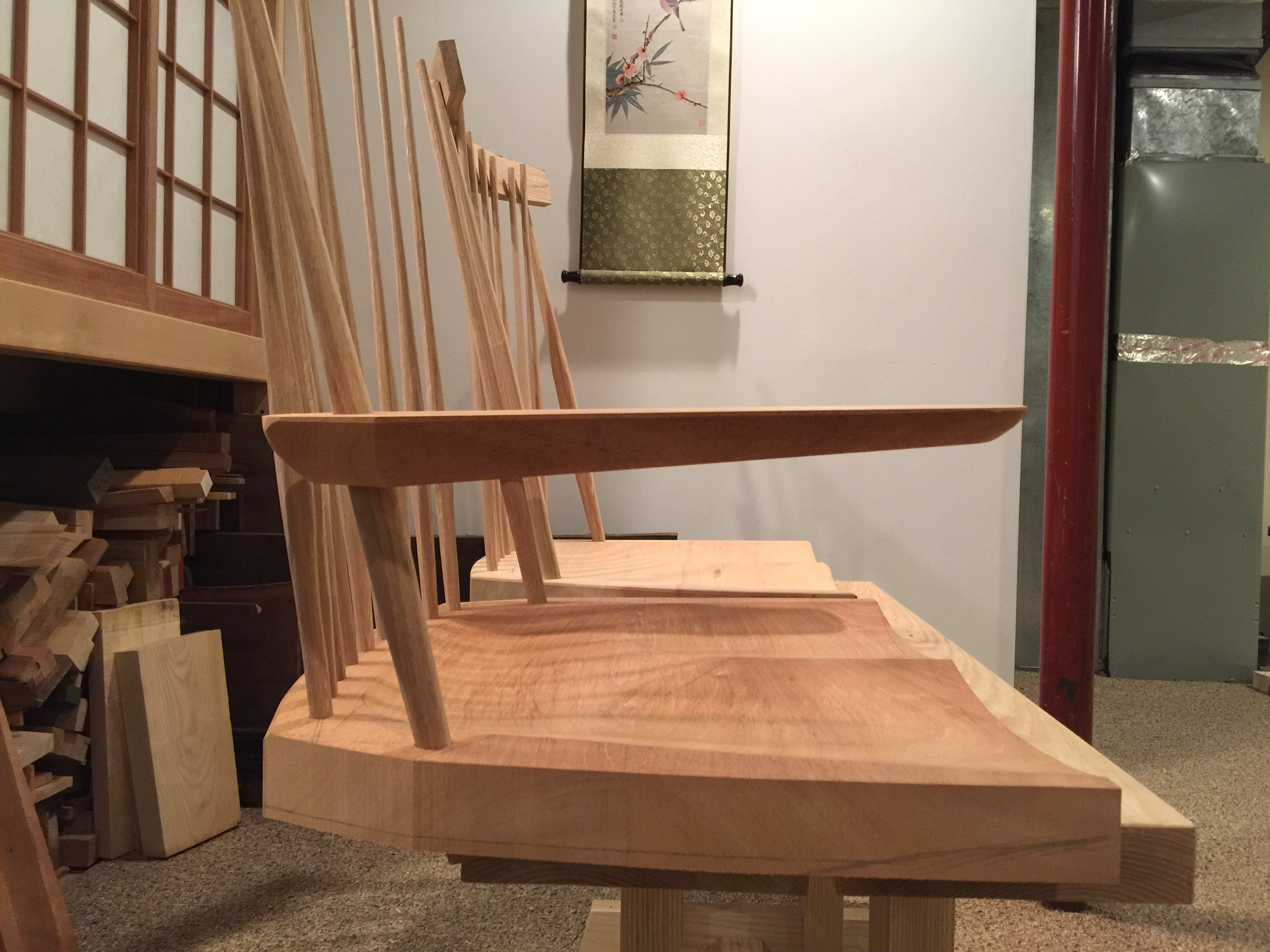 Tea House Chair – Arm Rests and Comb